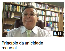 YouTube - Princípio da Unicidade Recursal - Canal Prof. Barros Consultoria & Advocacia